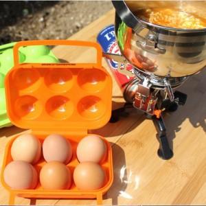 Outdoor picnic equipment portable egg box Egg refrigerator pack egg container 6case 16*15*7cm(China (Mainland))