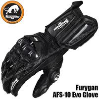 Free Shipping 2014 New Carbon Fiber Leather Furygan AFS-10 Evo Glove for ATV MTB MX motocross motorbike motorcycle racing gloves