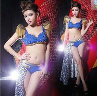 Sexy Woman Costume Club Party Dance Wear Shrug Shoulder Rivet Top+Shorts Gauze Cosplay Cos XS S M Free Shipping