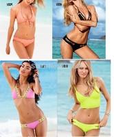 free shipping! hot sale 2014 new styles sexy VS brand swimsuit swim wear bikini  women bathing suit  shoulder strap style