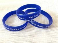 New Hot! custom blue Women Bracelets Bangles white text imprint  Cheap silicone promotion Charm Jewelry wristband