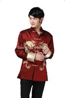 Free Shipping Masculine Men Kung Fu Top Tai Chi Shirt Sport Shirt China Garment Plus Size