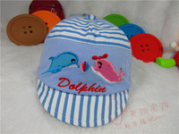 20pcs/lot children's Baby Dolphin  rabbit hat children Hats boys cap girls cotton headgears visors