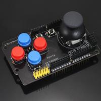 Expansion Board W/ Rocker Button Game Analog Joystick Keyboard Shield Joystick Module & Mouse Function For Arduino