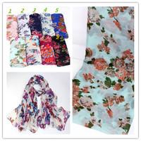 viscose  flower  shawls /scarf/scarves/muslim hijab, free shipping D692