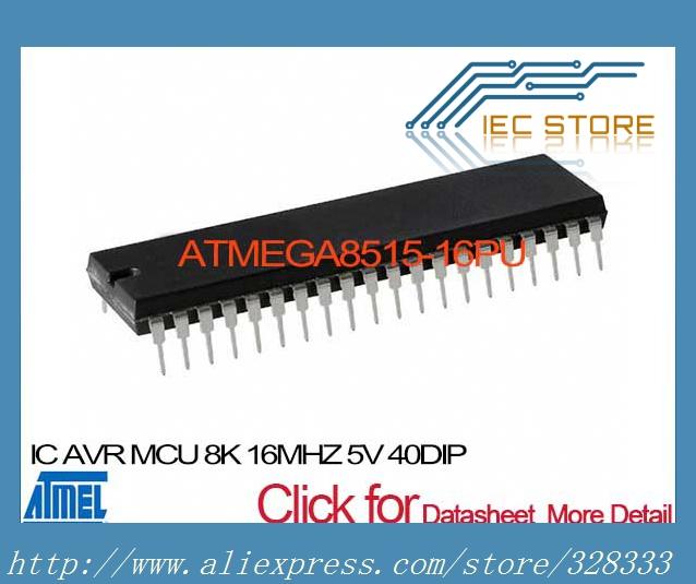 ATMEGA8515-16PU IC AVR MCU 8K 16MHZ 5V 40DIP ATMEGA8515-16PU 8515 ATMEGA8515 A8515 GA8515(China (Mainland))