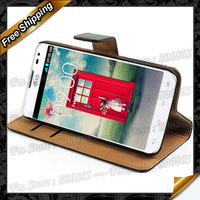 For LG L90 Wallet Case, New book style wallet case genuine Leather cover For LG L90 Free shipping