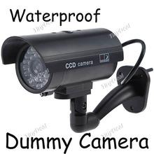 New Wireless Waterproof IR LED Surveillance Fake Camera Dummy Camera with IR LED Blinking Light Freeshipping(China (Mainland))