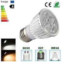 Brand new  High power CREE Led Lamp non-dimmable GU10 E27 MR16 4W 5W Led spot Light Spotlight led bulb downlight lighting