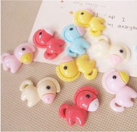 Free shipping 30mm cute horse resin flatback Cabochon for DIY deco, Wholesale 50pcs/lot mix colors