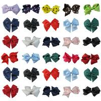 Free Shipping 10colors baby ribbon bows & clip,Baby Girl pin wheel Hair Bows Clips,Baby Boutique bows hair pins