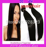 Queen Hair Products Peruvian Virgin Hair Straight Human Hair Weave Bundles Natural hair