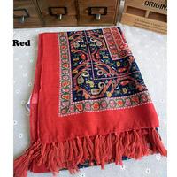 Free Shipping Lady Gorgeous Bandana Scarf Shawl Wrap Vintage Style Ethnic Tassels Oversized