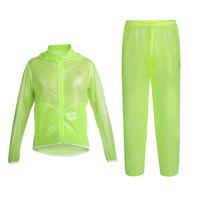 Cycling Jersey Sets Outdoor Sports Waterproof Bike Riding Jacket +Pants Ultra-thin Ultra-light Men's Cycling Raincoat Suit