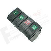 Factory Direct 7Pins Auto Rocker On-Off Switch for Renault Car (10PCS/Lot)