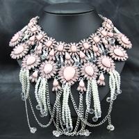 Wholesale Costume Brand Jewlery Fashion Perfume Women Bijoux  jewelry Exaggerate Choker Pendant statement necklace