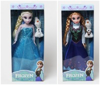 Original BOX 2 Set 6 Joint Moveable Frozen Princess11.5 Inch Frozen Doll Elsa and Frozen Anna Snow treasure Good Girl Gifts