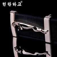 Brands Designer Belts 2014 New Fashion jaguar mental buckle belt for men women leather belt jeans cinots Drop Shiping