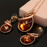 Zircon Auden Rhinestone Necklaces & Earrings Jewelry Set For Women Wedding Statement Charm Brand Sale Gift Brazil 2014
