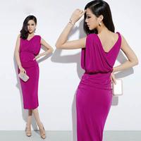 Free shipping new 2014 long formal evening dress women fashion summer dress party evening elegant vestido de festa hot&sexy