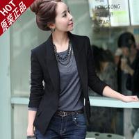 Blazer za Women New 2014 Fashion Suit  Casual One Button Blazers Slim Jackets Cardigan Coat Plus Size Blazer Feminino S-3XL
