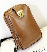 2014 Men/Women/Unisex chest bag leather travel bags high quality men's waist pack cross body men messenger bag
