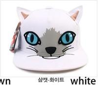 Fashion baseball caps snapback hats and cap cute lovely cat animal print hippop dancing cap adjusted 1pc