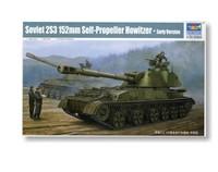 Trumpeter Model 05543 1/35 Soviet 2S3 152mm Self-Propeller Howitzer Early plastic model kit