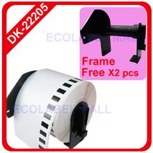 60 x Rolls Brother Compatible Labels DK-22205 dk 22205 dk22205 + 2 pcs of Detachable Frames