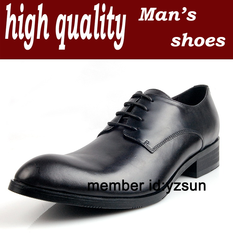 Head layer cowhide men's business leather shoes dress lace-up shoes Low system shoes comes in two colors(China (Mainland))