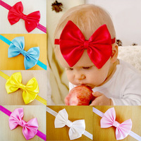 STOCK!!! BABY GIRL HEADBAND 30pcs/lot 12colors handmade flower with feather&elastic headband hair ornaments FREE SHIPPING