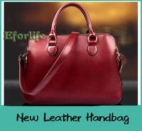 Genuine Cowhide Leather Handbag Fashion Vintage Womens single Shoulder Bag Messenger bags Totes EF126