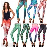 Ebay Hotsell New 2014 Black MIlk Leggings muscle Galaxy Legging Star digital printing punk style adventure time legging