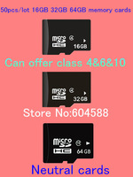 Plant sale 50pcs/lot 16GB 32GB 16GB micro sd memory cards  real full capacity class 4 6 10