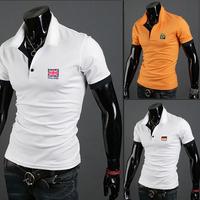2014 Korean fashion men's casual short-sleeved T-shirt Slim
