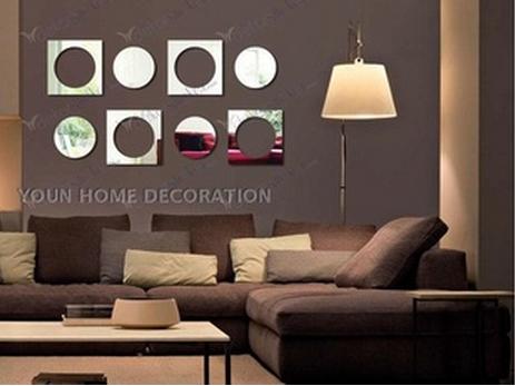 Abstact Blocks Acrylic Plastic Mirrors Wall Home Decal Decor Vinyl Art Stickers(China (Mainland))