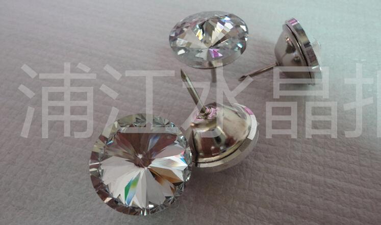 10pcs 30mm New Fashion Furniture Bedroom Wall Decor Sofa Headboard Buttons Nails Crystal Upholstery Decorative(China (Mainland))