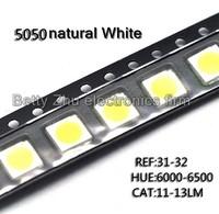 500PCS/LOT 5050 white SMD LED bright white light-emitting diodes