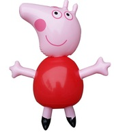 Free Shipping 2014 Brand New Peppa Pig ballon Inflatable Figure Doll Toys Children Water Toys out door wedding party decoration