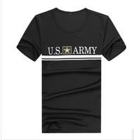 80 Polyester 20 Spandex U.S. Army quick-drying quick-drying round neck T-shirt ML XL XXL