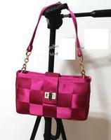 Hot women handbag woven plaid messenger nylon handbag shoulder bag tote evening bag wedding bag women gift