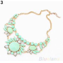 Women Fashion Mixed Style Irregular Bubble Bib Choker Statement Necklaces pendants 032P