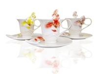 Free Shipping irises cup, porcelain enamel irises cup,enamel tee mugs,Couples coffee cups,creative coffee cup