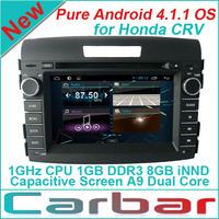 New Pure Android 4.1 Car DVD GPS Player for Honda CRV 2012-2013  with Russian Menu Capacitive Screen Car Audio Radio Navigation