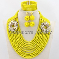 Fashion African Crystal Beads For Wedding Crystal Wedding Jewelry Dubai Gold Jewelry Set Free Shipping GS035
