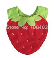 2014 New Baby Bibs Cartoon Cotton Saliva Towel Lunch Bibs Waterproof Layer  Boy Girl Strawberry
