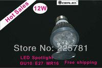 Free shipping 12W LED lamp led Spotlight best price LED bulb 4pcs/lot factory outlet Dimmable LED Light Luz LED regulable