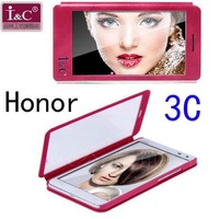 Original I&C Full Touch Screen Window Leather Flip Case For Huawei Honor 3C Free Shipping