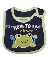 Free shipping  2014 Baby Girl Boy Velcro Waterproof Bib Frog Pattern for 0-2years Old