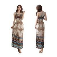 Sexy Summer Women's Floral V-Neck Beach Boho Lace Maxi Sundress Long Dress